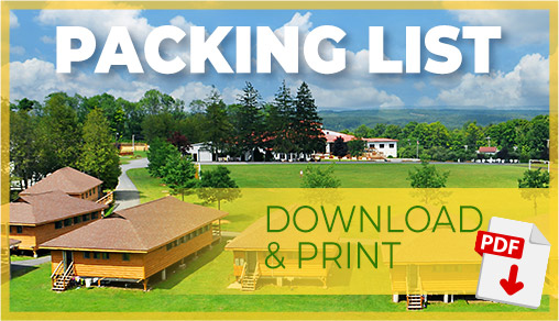 Download PDF of Packing List for Camp Bryn Mawr